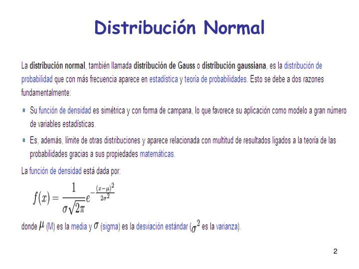 Distribuci n normal