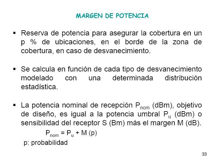 MARGEN DE POTENCIA
