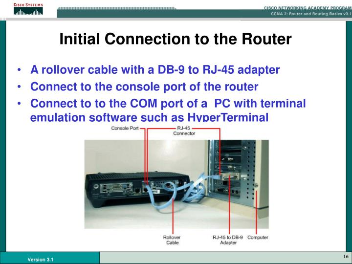 Initial Connection to the Router