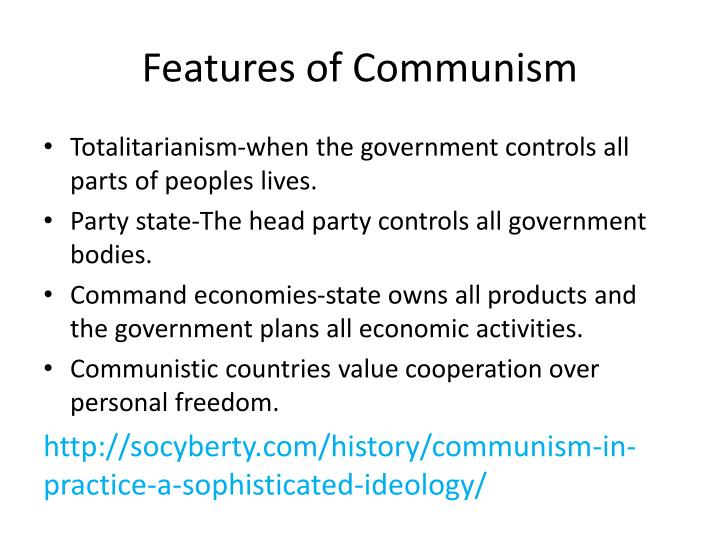 what are the features of communism