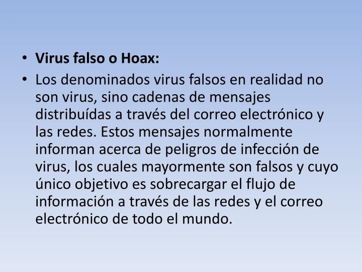 Virus falso o