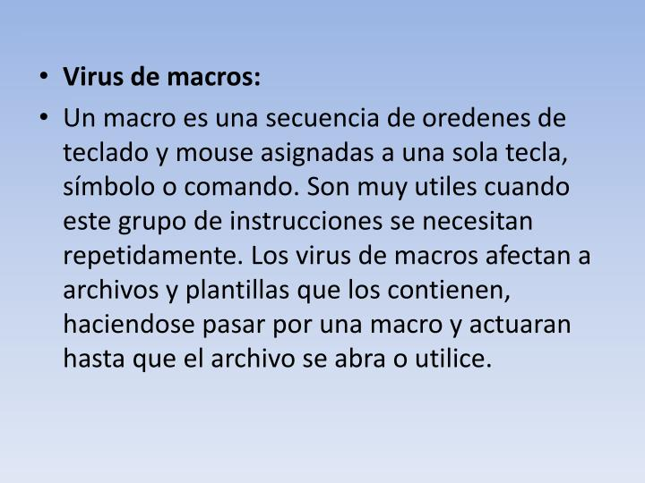 Virus de macros: