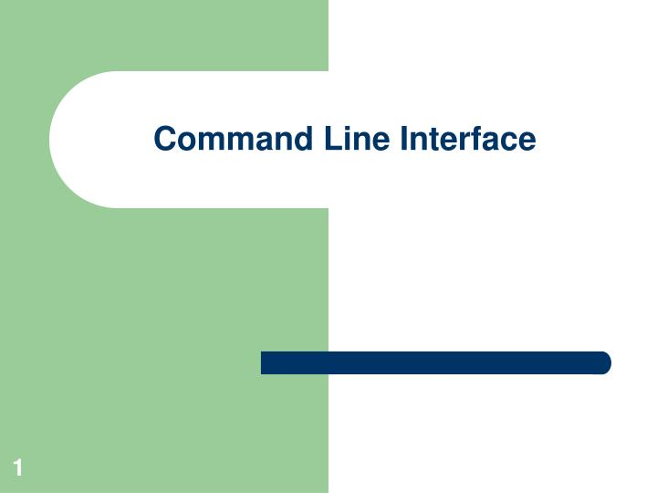 command line interface n.