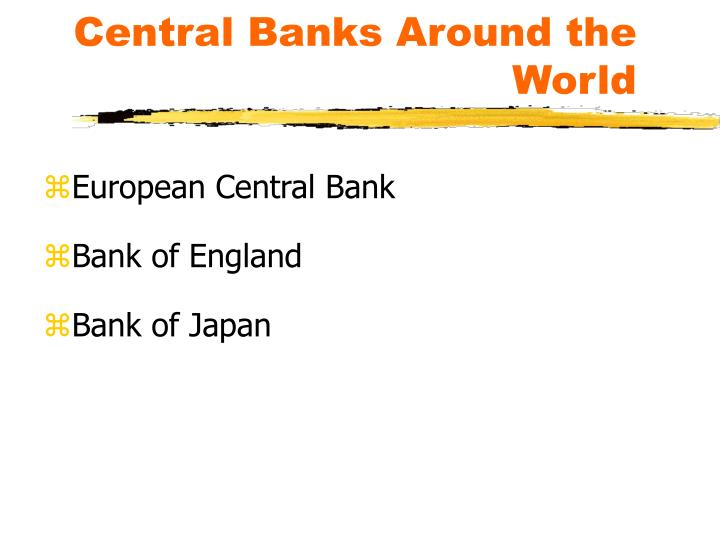 Central Banks Around the World