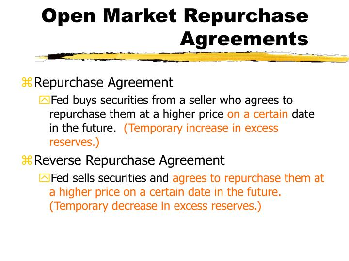 Open Market Repurchase Agreements
