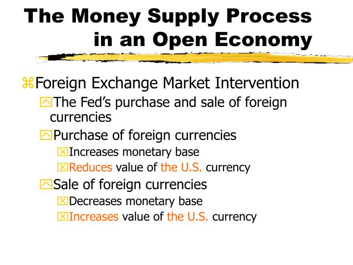 The Money Supply Process in an Open Economy