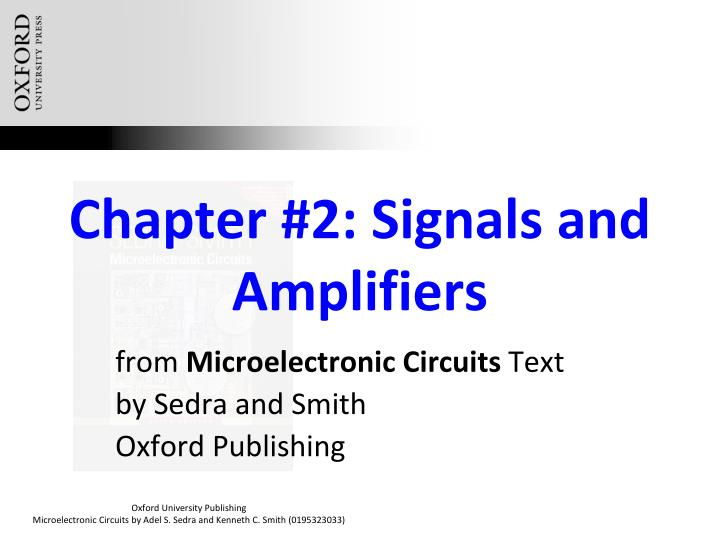 chapter 2 signals and amplifiers