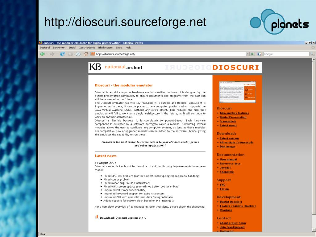 PPT - Dioscuri: emulation for digital preservation PowerPoint