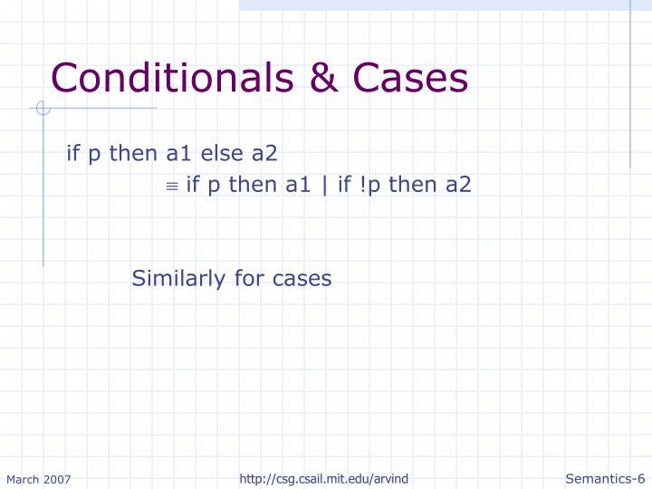 Conditionals & Cases