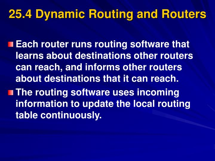 25.4 Dynamic Routing and Routers