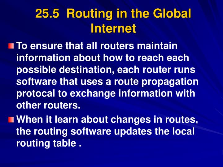 25.5  Routing in the Global Internet