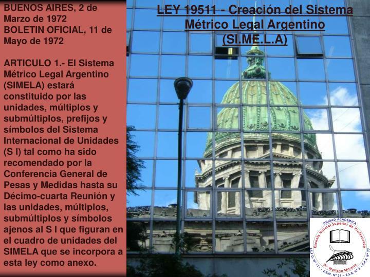 BUENOS AIRES, 2 de Marzo de 1972