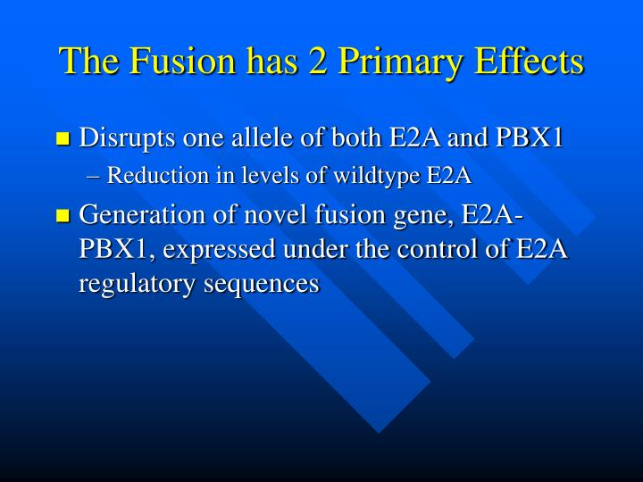 The Fusion has 2 Primary Effects