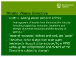 mining waste directive