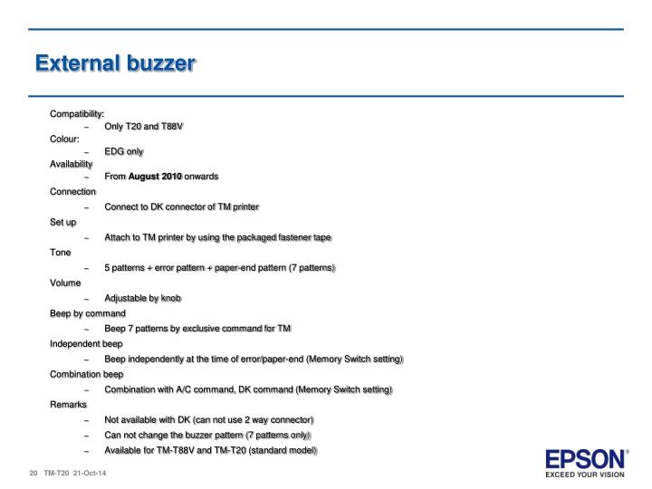 External buzzer