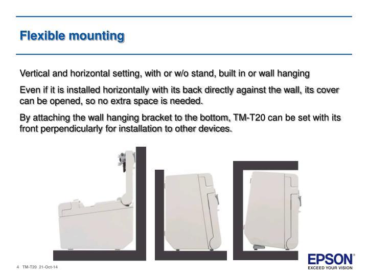Flexible mounting