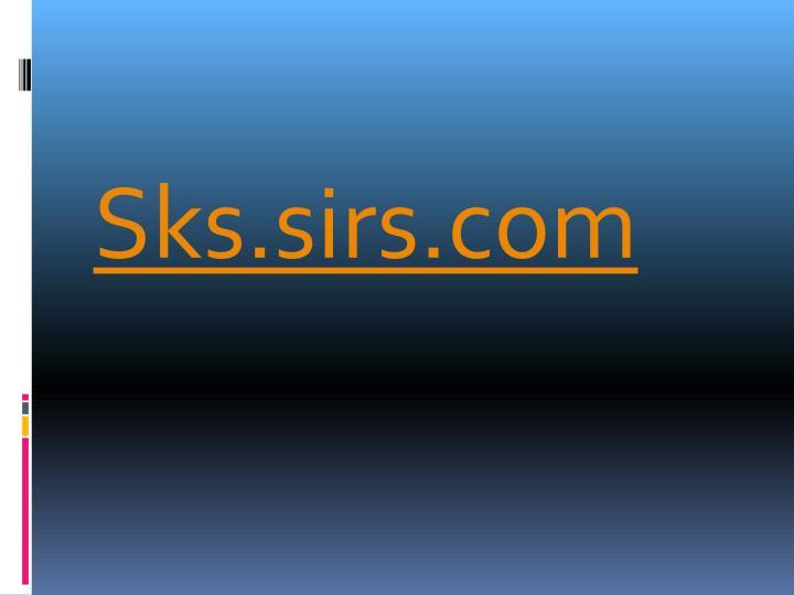 Sks.sirs.com