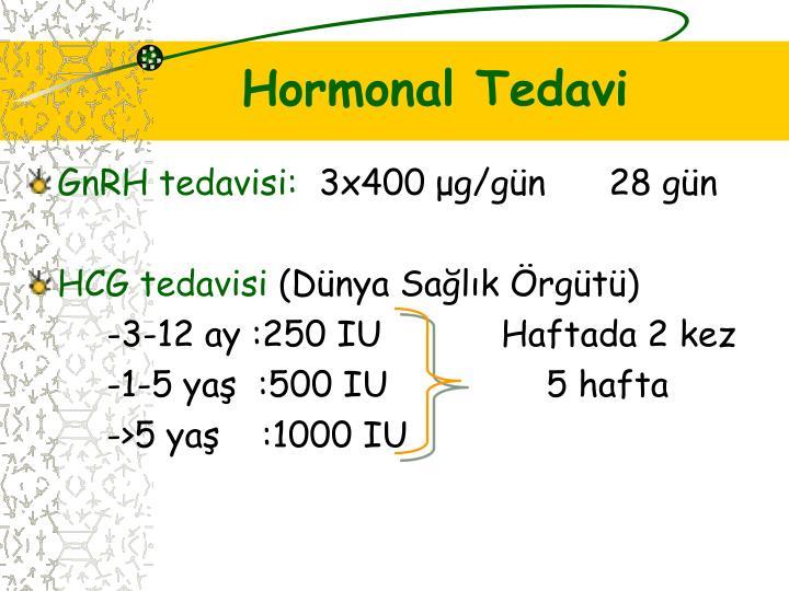 Hormonal Tedavi