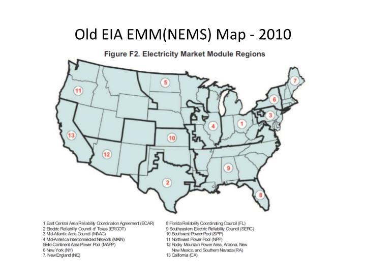 Old EIA EMM(NEMS) Map - 2010