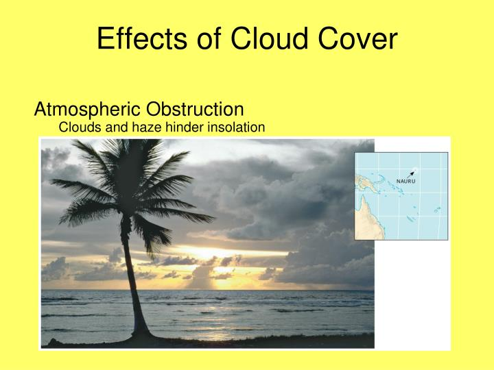 effects of cloud cover