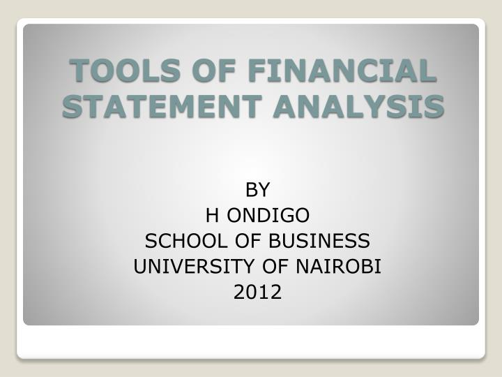 tools of financial statement analysis n.