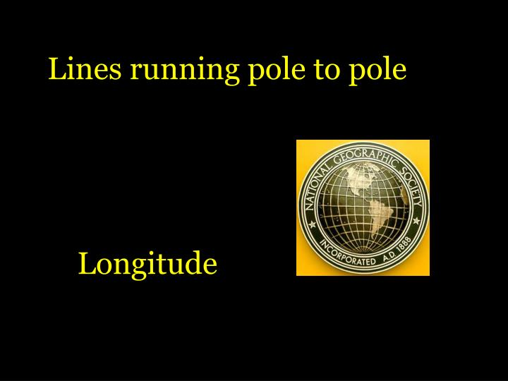Lines running pole to pole
