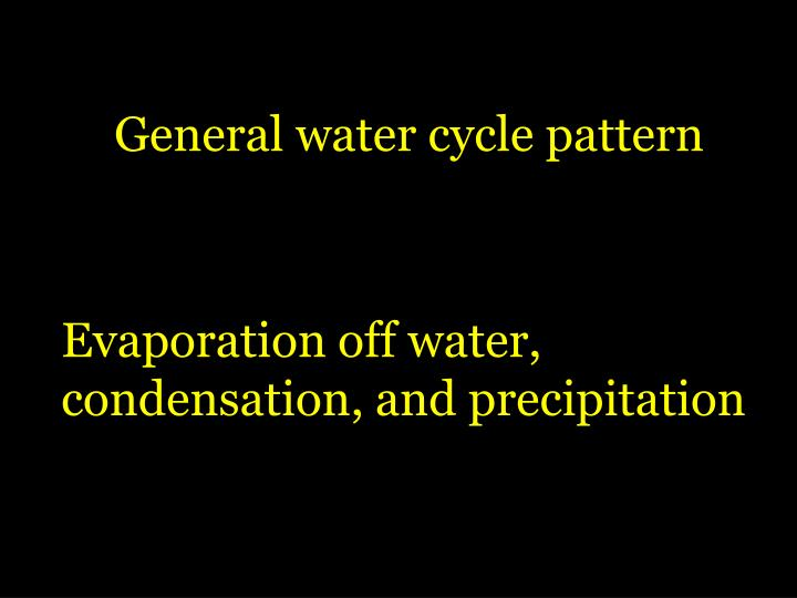 General water cycle pattern