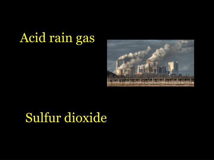 Acid rain gas