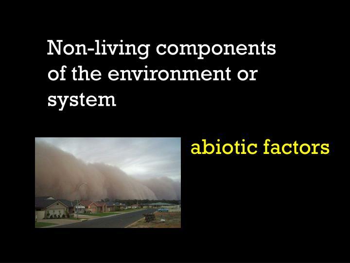 Non-living components