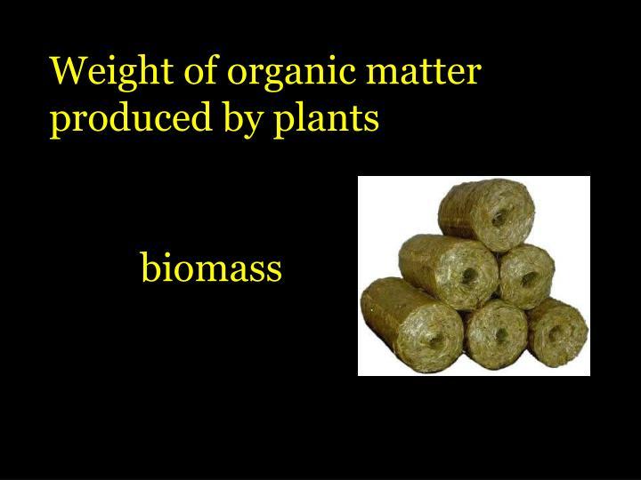 Weight of organic matter