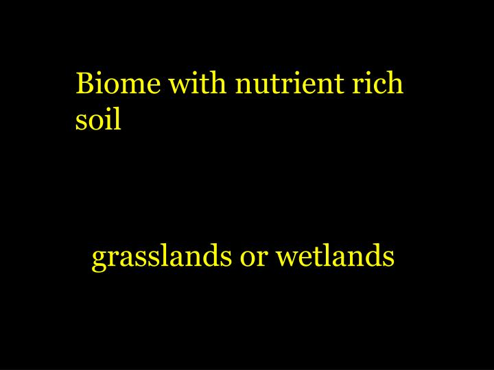 Biome with nutrient rich
