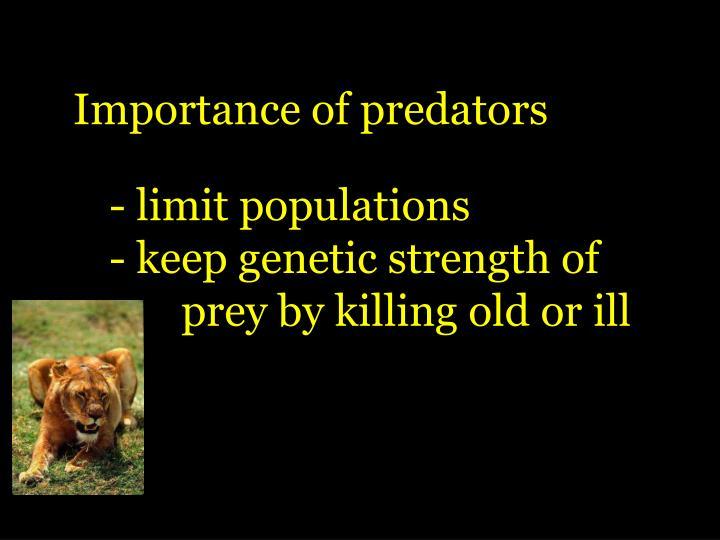 Importance of predators
