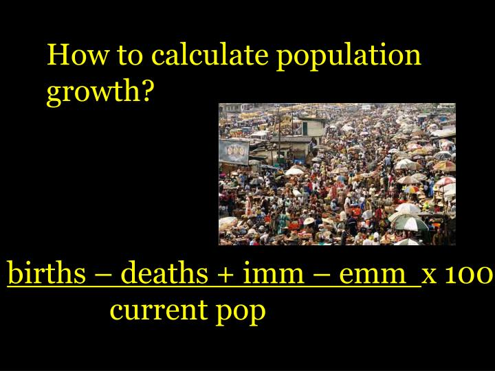 How to calculate population