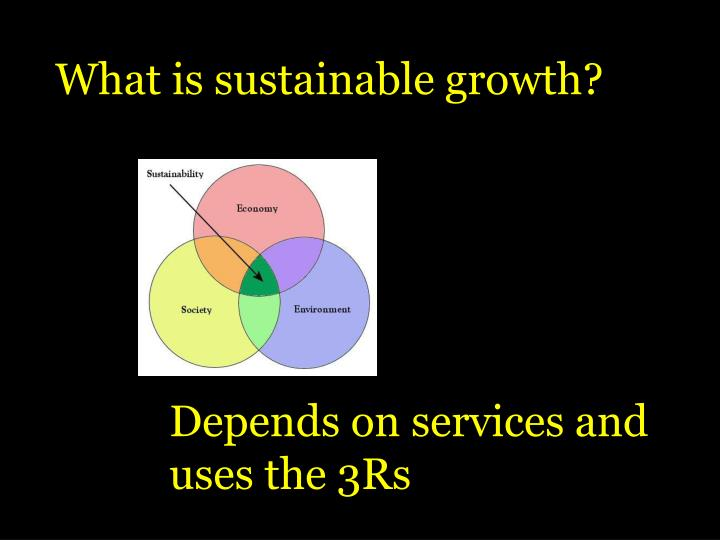 What is sustainable growth?