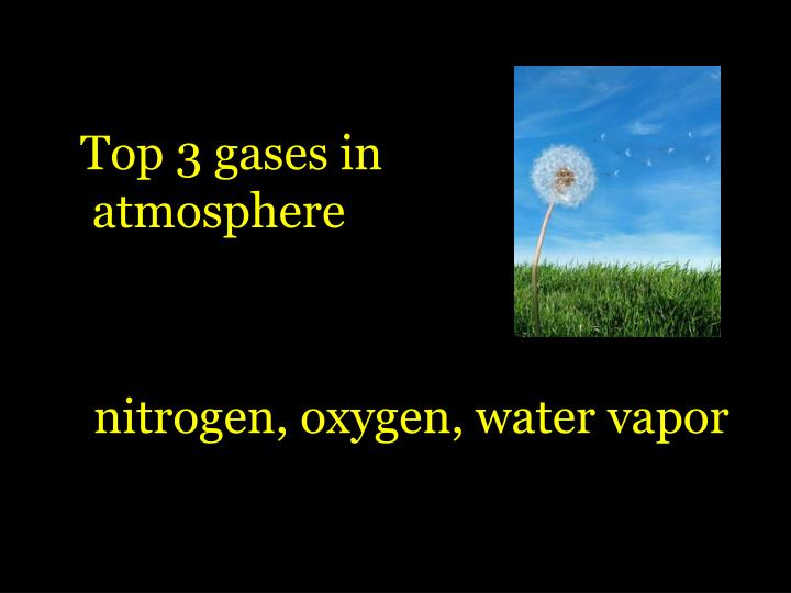 Top 3 gases in