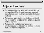 adjacent routers