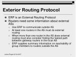 exterior routing protocol