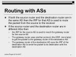 routing with ass