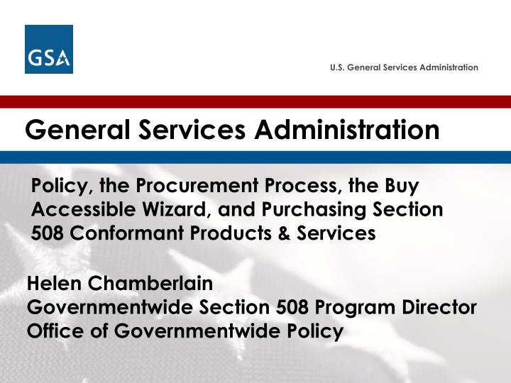 PPT - General Services Administration PowerPoint Presentation - ID ...