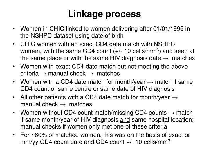 Linkage process