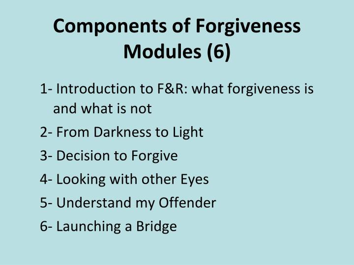 Components of Forgiveness