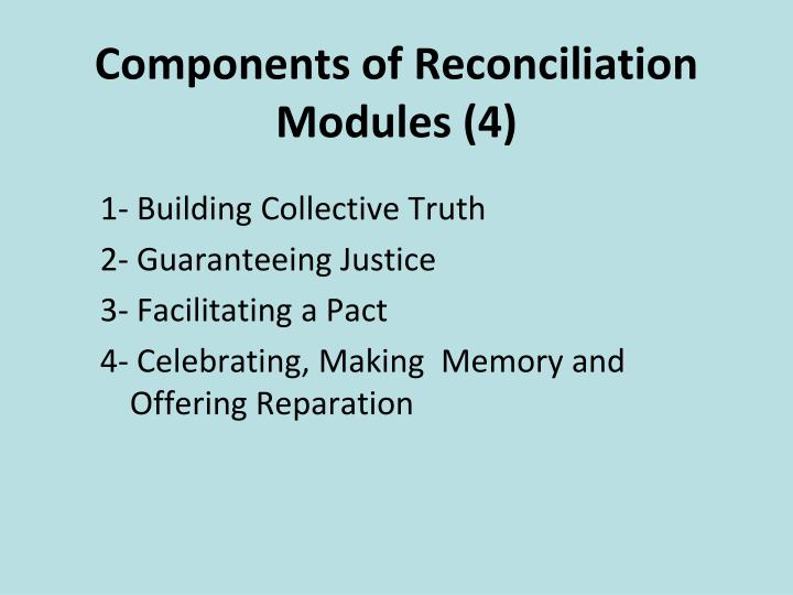 Components of Reconciliation