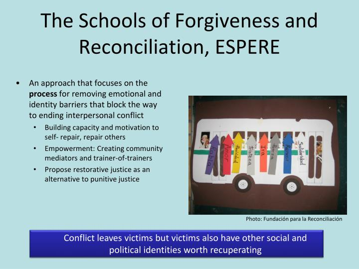 The Schools of Forgiveness and Reconciliation, ESPERE