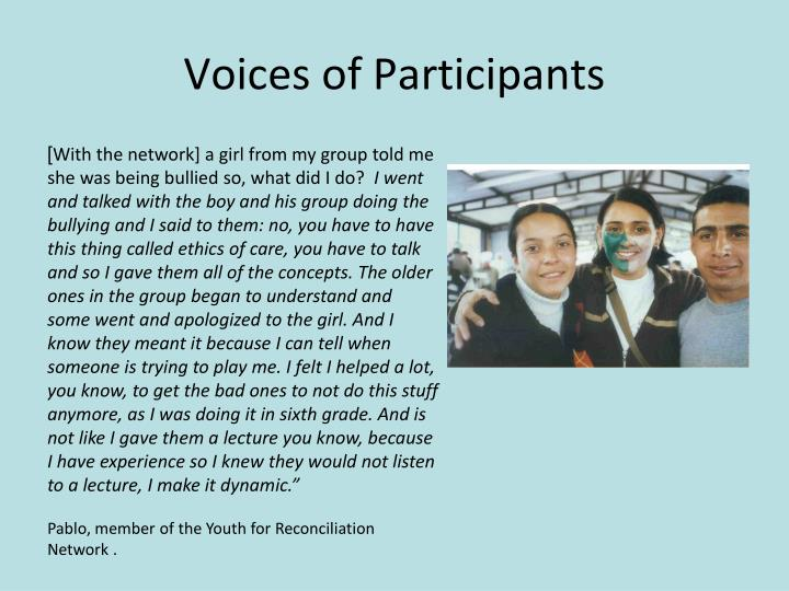 Voices of Participants