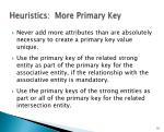 heuristics more primary key