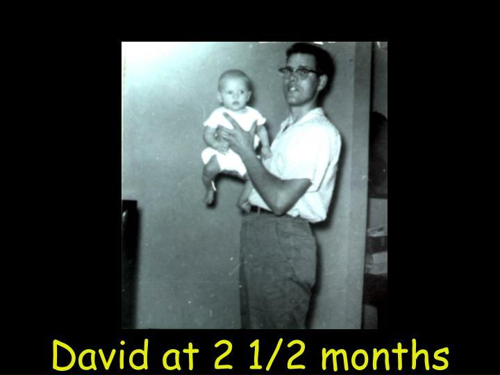 David at 2 1/2 months