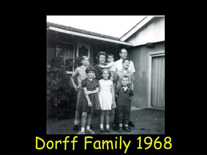 Dorff Family 1968
