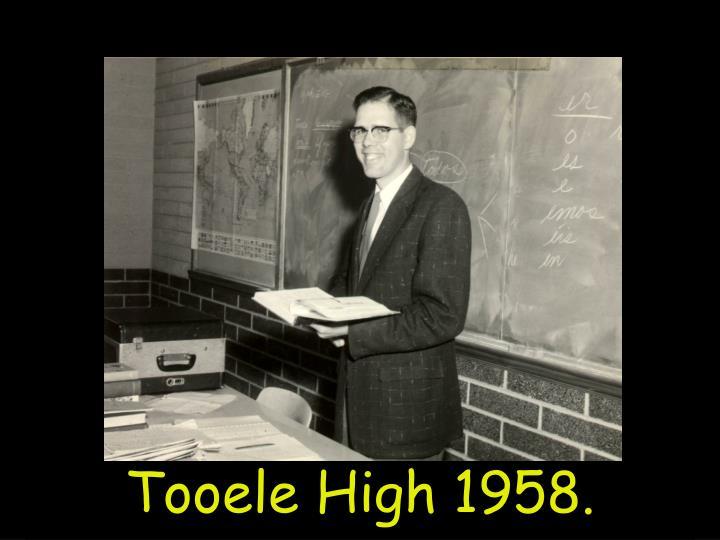 Tooele High 1958.