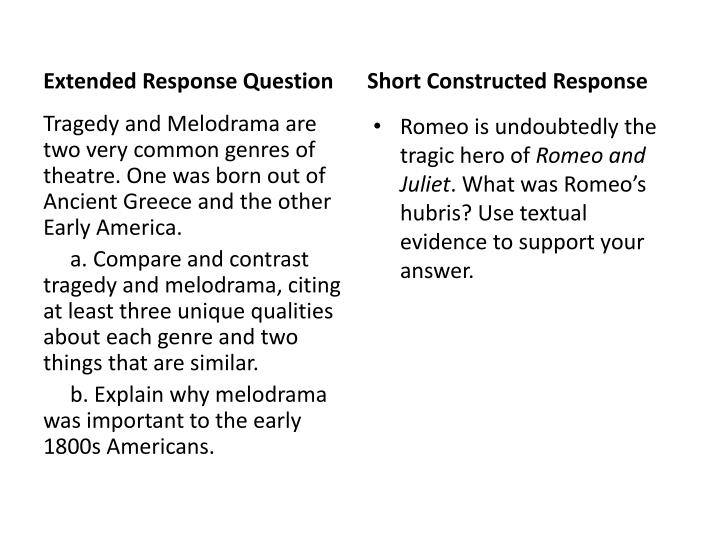 sample extended responses ogt science questions