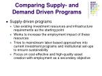 comparing supply and demand driven programs
